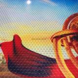 Matériaux r3fléchissants de collant de nid d'abeilles de vinyle r3fléchissant rouge chaud de vente