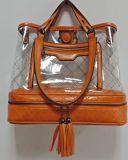 Bolso de dama moda bolsa transparente Borla señoras bolso Lady Mochila Populard Bolso (Biblioteca Digital Mundial01230)