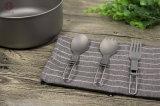 Utensilio de cocina vajillas Herramienta de mano doblada Titanium tenedor y cuchara
