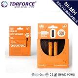 USB 1,2 450 Ма/ч AAA батарей аккумулятор