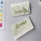 Custom satinado de alta densidad de etiqueta tejida Etiquetas ropa etiquetas de nombre