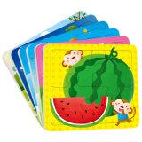 Los niños de educación personalizada Animal10 pedazo de madera rompecabezas rompecabezas de papel
