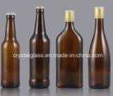 Bernsteinfarbige Bier-Glasflasche