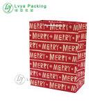 Impreso de lujo en venta personalizada bolsa de papel de Navidad para el embalaje de vinos