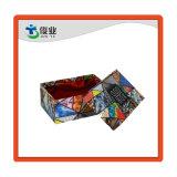 Motif de fleurs chaussette personnalisée emballage carton boîte cadeau Papier coloré avec couvercle et le bas