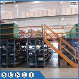 Nouveau système de rack de stockage industriel pont métallique étage Mezzanine de l'entrepôt