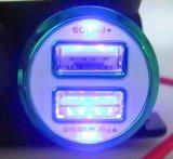 Adapter van de Contactdoos van de Lader USB van de Motorfiets van de auto de Dubbele met LEIDEN Licht