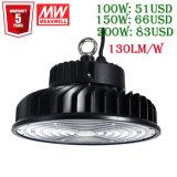 UL TUV Ce LED de alta potencia encuentros OVNI Meanwell conductor 100W/150W/200W /300W/500W LED UFO Industrial Almacén de la luz de la Bahía de alta