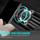 2018 Nueva patente Teléfono móvil inalámbrica Soporte de coche cargador de coche magnético para el iPhone y Samsung