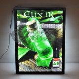 El bastidor de encaje de aluminio Panel acrílico de la publicidad display LED slim Box