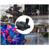 Gleichstrom 24V fließen zentrifugaler schwanzloser Minimusik-Brunnen-amphibische Pumpen des Wasserfall-1000L/H