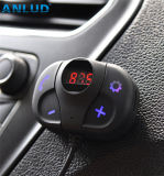 Reproductor de MP3 Bluetooth Handrfee Auto Transmisor FM con cargador de coche