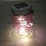 Im Freien Using romantisches LED Leuchtkäfer-Glas-Solarlichter des Himmelskörper-für Säubern-Dekoration
