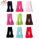 Comercio al por mayor de las niñas volante Bohemia pantalones pantalones pantalones de pierna amplia volante pantalones para niños