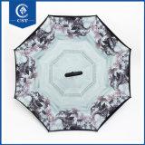 Chuva personalizados/Sun dobrar para trás com Flower China Umbrella