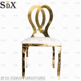 Casamento cadeira trono branco Cadeira de aço inoxidável, Golden Banquetes Cadeira de jantar moderna