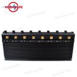 8 antenas de telefonia móvel fixa potentes alto Isolador de sinal/ GPS WiFi Jammer Jammer UHF/VHF/Lojack Jammer/ 315/433/868MHz de interferência de sinal de rádio RF