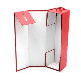Vinho de papelão dobrável de impressão personalizado caixa de embalagem com pega