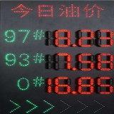 Scheda del segno di prezzi della stazione di servizio da 6 pollici LED