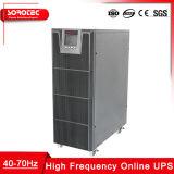 Monofásica de alta freqüência de 1kVA - 20kVA UPS on-line para Telecom