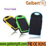 新しい携帯用防水李ポリマー電池の太陽エネルギーバンクの充電器5000mAh