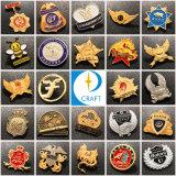 Logo personnalisé Fashion Metal Craft émail doux en laiton/disque d'un insigne or argent de l'emblème du drapeau de Lions de Police de sécurité militaire de l'épinglette aiguille longue pour la promotion de cadeaux