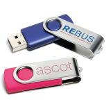Azionamento promozionale dell'istantaneo del USB della parte girevole del metallo con il marchio su ordinazione