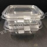正方形のシールのタンパー明白なサラダボックスペットプラスティック容器