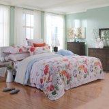 極度のSoft 300tc 60s Beautiful Flower Print 100%年のTencel Printed Super Single Bed Set