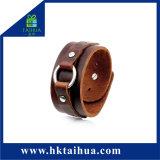 Braccialetto unisex punk del braccialetto di modo del polsino della corda dell'annata aperta di cuoio adulta del braccialetto