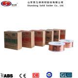 Fio de soldadura revestido do cobre contínuo de Shandong