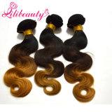Weave человеческих волос Remy объемной волны Hiar Ombre выдвижений человеческих волос