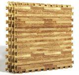 泡は木製の穀物の可逆連結の泡の床のマットをタイルを張る