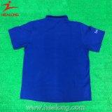 Camisa de polo azul de la manera de encargo del algodón el 100% de Healong