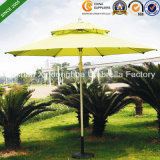 2.7m Double Layer Aluminium Patio Umbrellas für Outdoor Furniture (PU-0027AD)