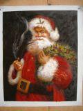 Купить картины маслом на холсте Санта Клауса в рождественские украшения
