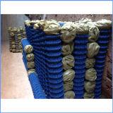 Cerca revestida de la conexión de cadena del PVC de la armadura de tela cruzada para cultivar