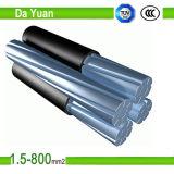 0.6Kv 1kv XLPE Alambre de aluminio con aislamiento de PVC de 2*16 mm2 Cable ABC