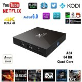 X96 de Doos Nieuwste Kodi 17.3 de Androïde Doos Slim Media Player van TV van TV Geplaatst Hoogste Doos