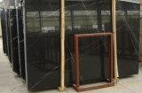 Zwart Marmer/Nero Marquina/het Zwarte Marmer van China voor Muur/Bevloering/Tegels/Plakken/het Vormen/Water-Jet/Medaillon/Mozaïek