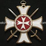 Medaglia a forma di stella di Pin del distintivo del metallo in lega di zinco di alta qualità