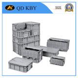 Carcaça de plástico de logística empilhável de caixa pesada empilhável