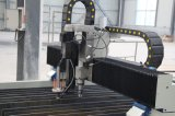 Type de Tableau machine de découpage de plasma de commande numérique par ordinateur avec la tête Drilling automatique
