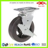 Balck 고무 피마자 바퀴 (P701-42D200X50S)를 잠그는 200mm 회전대