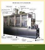 Verse het Vullen van het Karton van de Melk Semi Automatische Machine Met geveltop