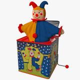 Latta bella all'ingrosso Jack In The Box del giocattolo dello stagno del metallo della peluche