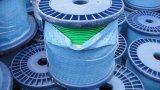녹색 투명한 PVC에 의하여 입히는 직류 전기를 통한 철강선 밧줄 6X19