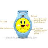 2g GPS portatif suivant le téléphone intelligent de montre de traqueur de Device&Kids GPS avec l'appareil-photo D14
