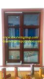 Ventana de aluminio de madera del estilo europeo con la buena calidad, Windows de aluminio de madera con marca de fábrica bien conocida del hardware