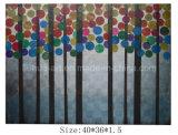 Pittura a olio del legno dell'ultimo estratto di paesaggio su tela di canapa da vendere (LH-700539)